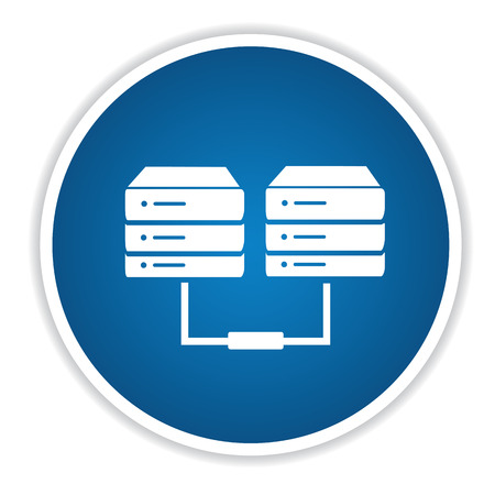 data recovery: Database on blue button