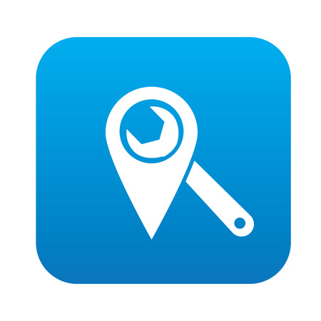 Repair local on blue button,clean vector