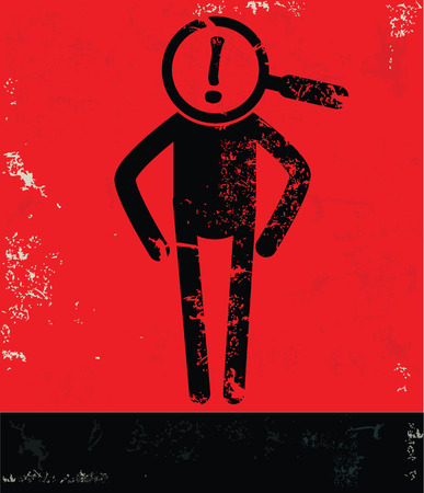 best employee: Zoom concept,human resource on red background,grunge vector