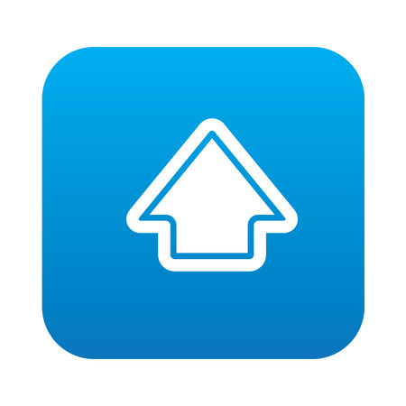 indexes: Arrow up icon on blue button background,clean vector