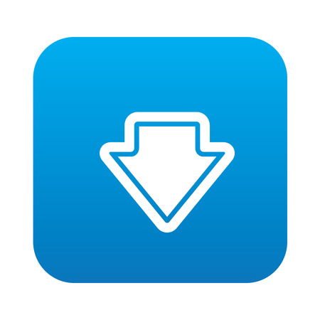 indexes: Arrow down icon on blue button background,clean vector