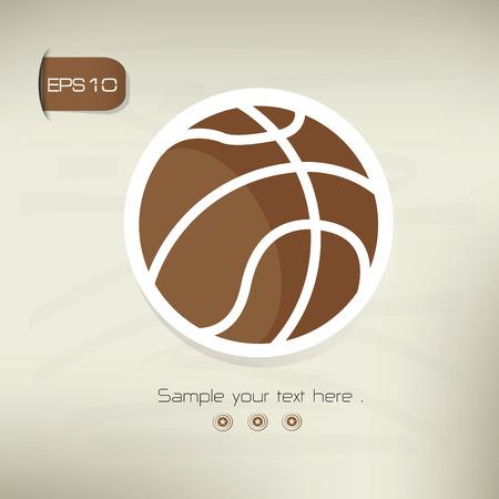 vectorrn: Basketball symbol,sticker design,brown version,clean vector