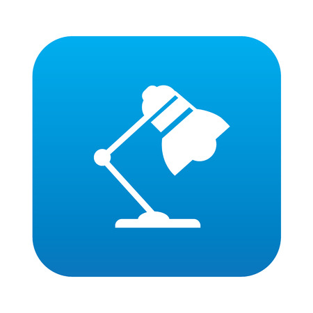rnabstract: Lamp on blue button background,clean vector