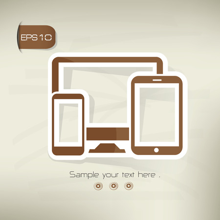 Responsive on brown background,clean vector Vector