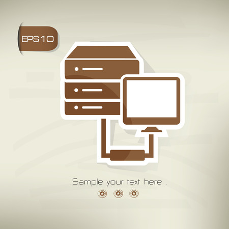 wwwrn: Database on brown background,clean vector