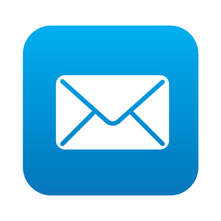button: Email icon on blue background,clean vector