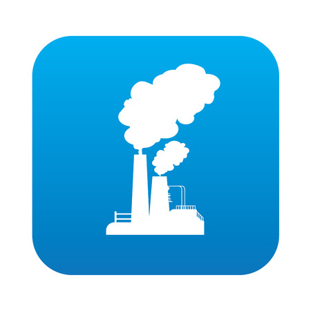 heavy industry: Heavy industry on blue button background,clean vector
