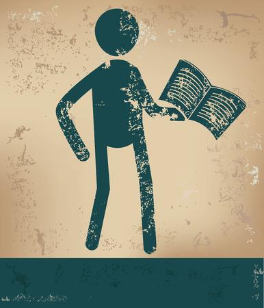 Knowledge concept,human resource design on old background,grunge vector Illustration