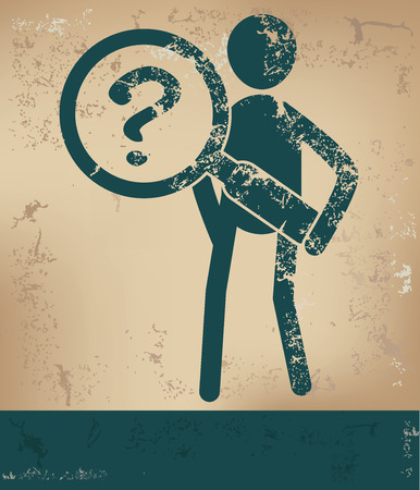 Question concept,human resource on old background,grunge vector Vector