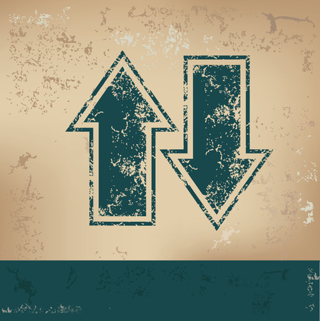 indexes: Arrows design on old background,grunge vector