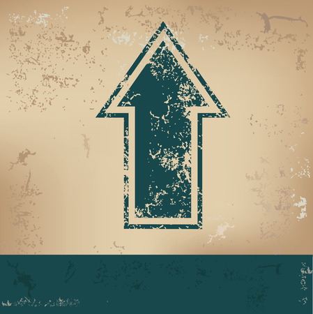 indexes: Arrow design on old background, grunge vector