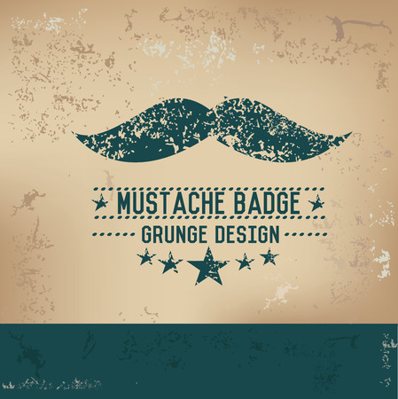 hair mask: Mustache design on old background,grunge vector Illustration