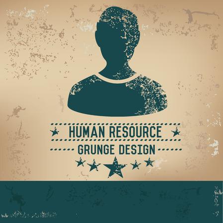 simbol: Disegno delle risorse umane sul vecchio sfondo, grunge vettore