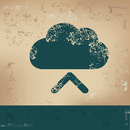 input: Cloud input design on old paper,grunge vector