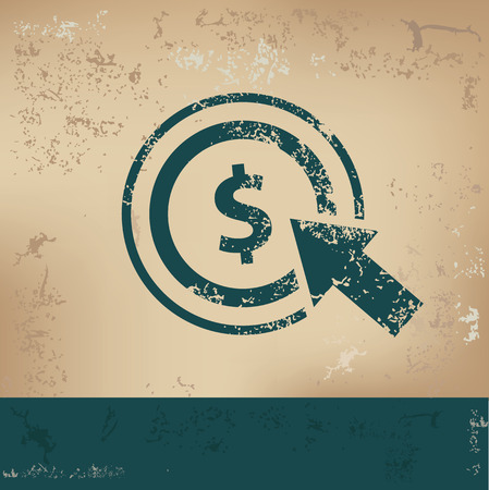 per: Pay per click design on old paper,grunge vector