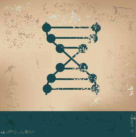 ascorbic: Enzyme design on old paper, grunge vector Illustration