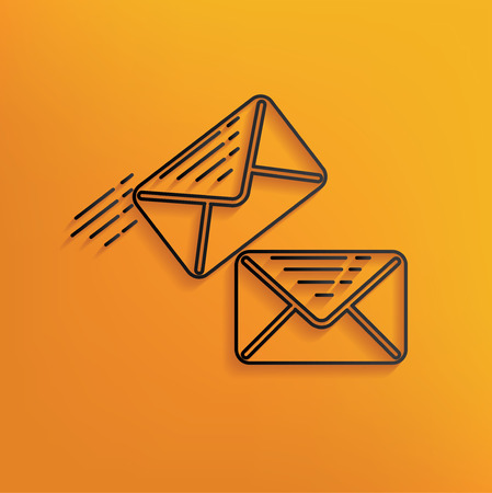 black and yellow: Email design on yellow background,clean vector