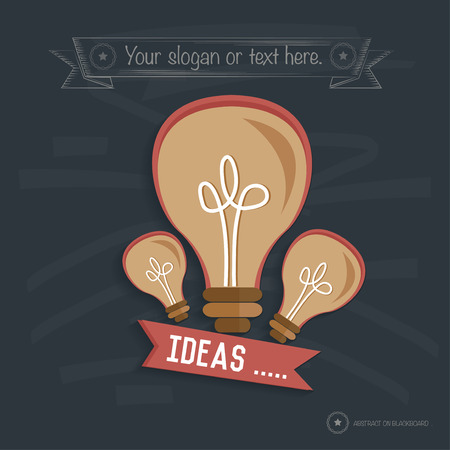 decode: Idea design on blackboard background,clean vector