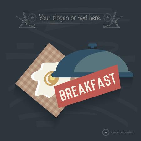 break fast: Break fast design on blackboard background,clean vector