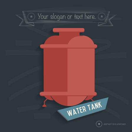 water tank: Water tank design on blackboard background,clean vector