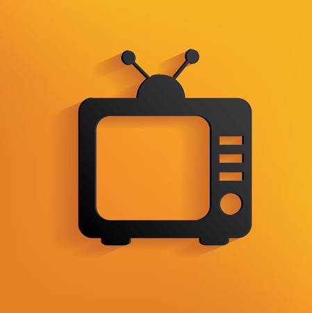 yellowrn: Television design on yellow background,clean vector Illustration