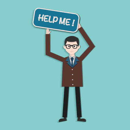overflow: Help me,Human resource,Businessman design,clean vector