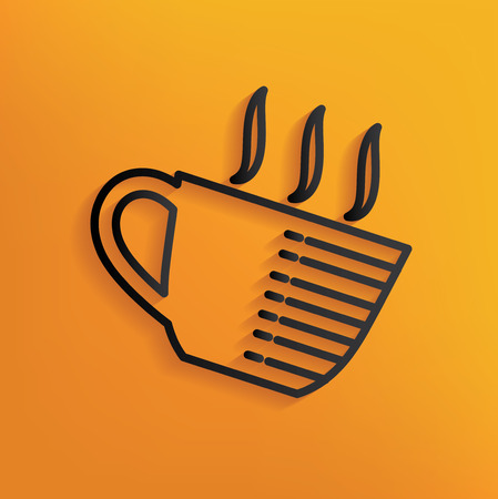 yellowrn: Coffee design on yellow background,clean vector