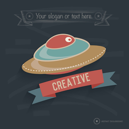 rnabstract: UFP design on blackboard background,clean vector
