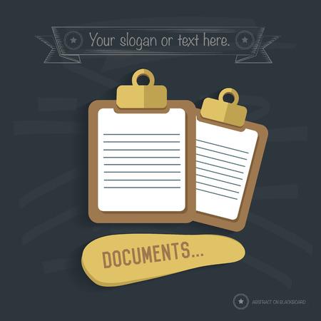 e magazine: Document design on blackboard background,clean vector