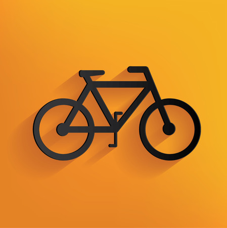 Bicycle design on yellow background,clean vector Vector
