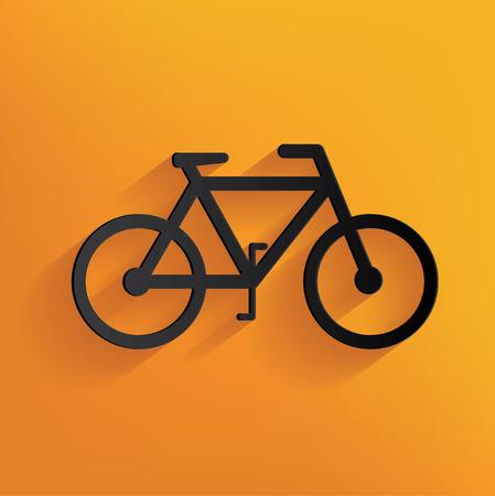 bicyclette: la conception de v�los sur fond jaune, vecteur propre