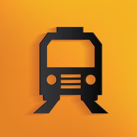 sonic: Train design on yellow background, clean vector Illustration