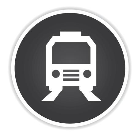 intercity: Train design on black button background,clean vector