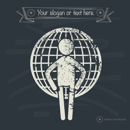Global concept,human resource design on old background,grunge vector Vector