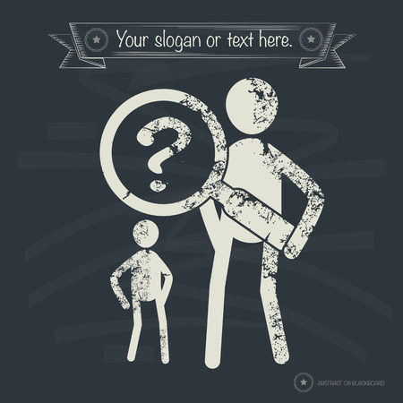 Question concept,human resource design on old background,grunge vector Ilustração