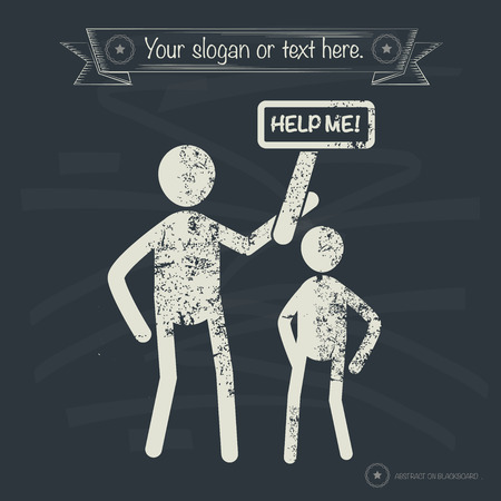 mayday: Help me concept,human resource on old background,grunge vector