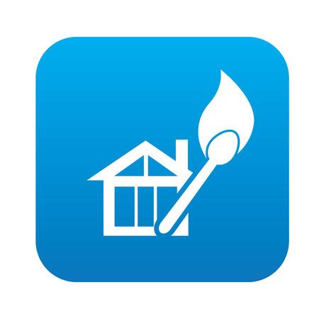 calamiteit: Brand pictogram op de blauwe knop