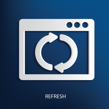whitern: Refresh symbol on blue background Illustration
