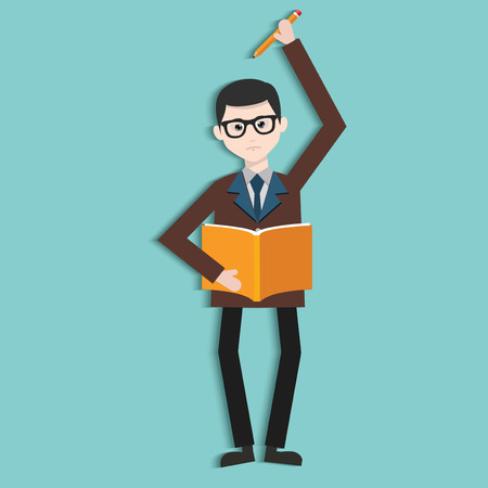 Learning,Human resource,Businessman design,clean vector Vector
