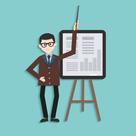 speculating: Businessman design,clean vector Illustration