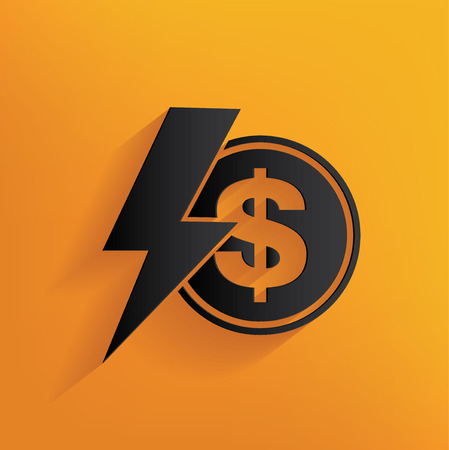 yellowrn: Dollar design on yellow background,clean vector