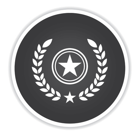 black button: Quality badge icon on black button background,clean vector Illustration