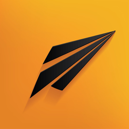 yellowrn: Rocket design on yellow background,clean vector