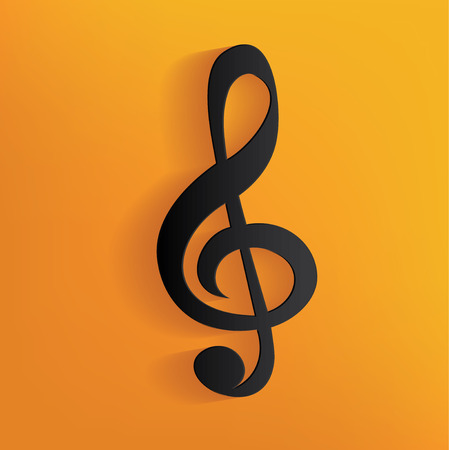 Song design on yellow background,clean vector Illustration