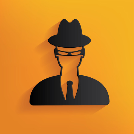 mal: Spy design on yellow background,clean vector
