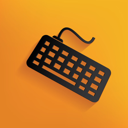 escape key: Keyboard design on yellow background,clean vector