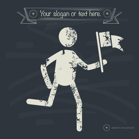Goal concept,human resource design on old background,grunge vector Vector