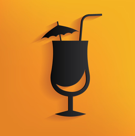 Drink design on yellow background,clean vector Vector