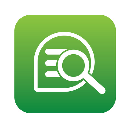 Search content on green flat button,clean vector Vector