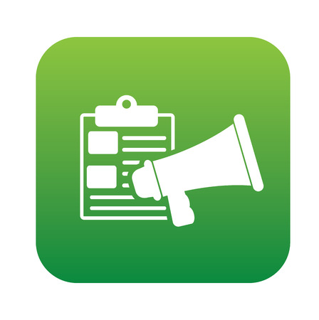 green button: Marketing content on green button,clean vector Illustration